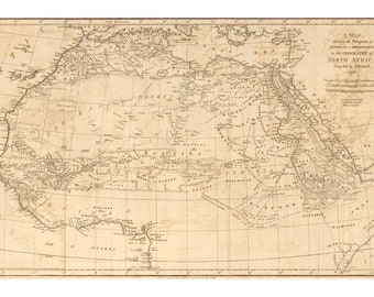 Map of European Discovery of Africa 1798