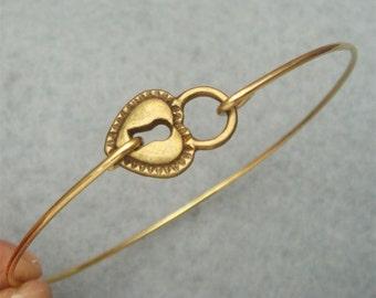 Lock Bangle Bracelet