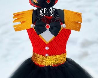 Ringmaster Tutu Dress and Mini Hat Headband Set