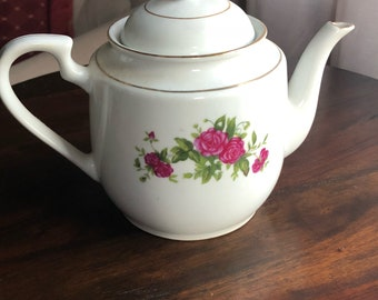 China Teapot with Rose
