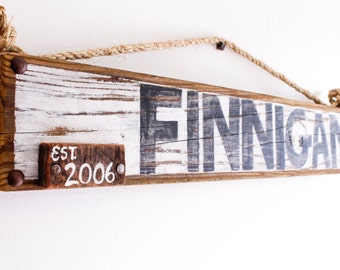 Custom Rustic Cabin Sign Wedding Sign with Personalized Family Name on Reclaimed Wood Country Cabin Cottage Vintage Style Kids Room Nursery