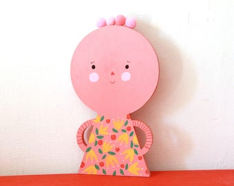Pink lady  little statue , home decor