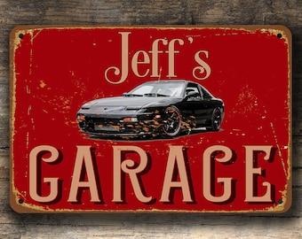 PERSONALIZED GARAGE SIGN, 1989 Nissan 240SX, Vintage Style Garage Sign,  240SX Garage Sign