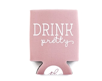 Can Cooler - Drink Holder - Drink Pretty - Dusty Pink