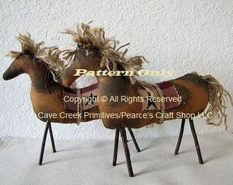Primitive Horse Pattern, Horse Patterns, Primitive Animals, Sewing Patterns, Primitive Horses, Animal Patterns, Primitive Decor