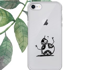 BB-8 iPhone Case, star wars iphone case, iphone 6/6S/7/8/PLUS/X case, star wars, bb-8, droid, gift, illustration, phone case, star wars art