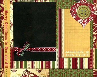 Holiday Traditions - Premade Scrapbook Page