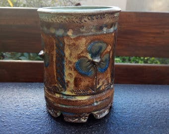 Ceramic utensil holder, For The kitchen, a wonderful look on a work table, can be used as a flower pot,housewarming,mother gift,Brush Holder