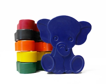 Elephant crayons - Childrens Elephant Gift - Circus Birthday - Elephant Gift - Party Favour - Gift For Children - Elephant Baby Shower