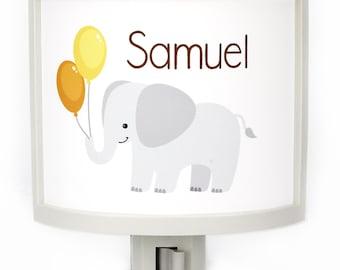 Personalized Elephant night light Customizable childrens nightlights nursery nightlight Jungle theme gift for baby shower gifts under 25