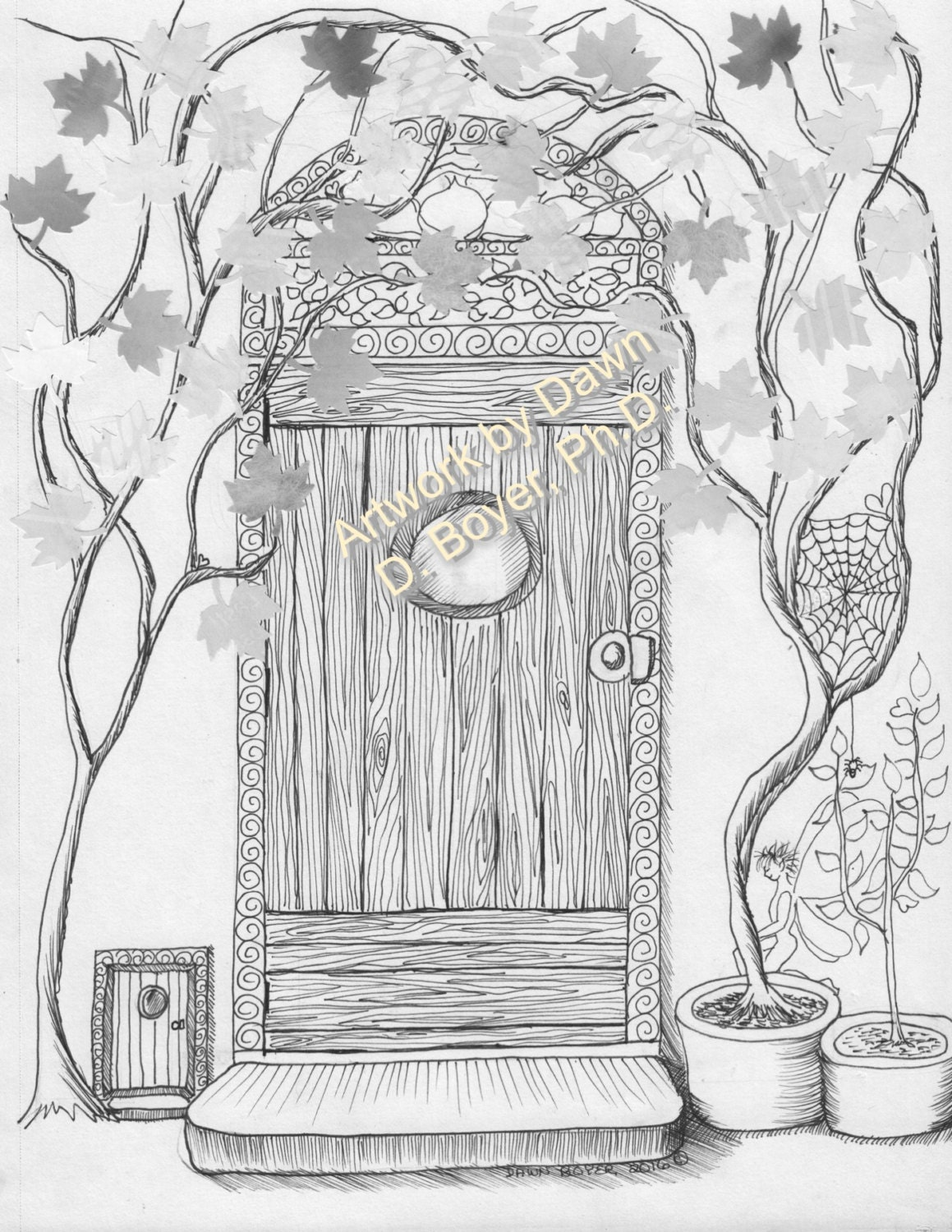 Fairy Houses And Doors Vol 3 4 Individual Coloring
