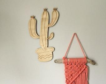 Cactus Decor, Wall Art, Laundry Room Decor, Kids Room, Baby Shower Gift, Cactus Art, Laser Cut Wood Sign, Nursery Decor, New Mom Gift