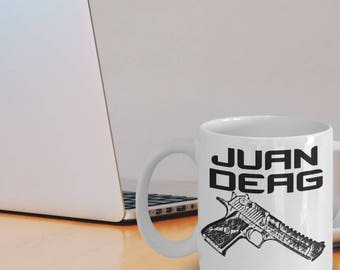 "CSGO Mugs ""Juan Deag Coffee Mug"" Desert Eagle Counter Strike Meme Mug - Counter Strike Gifts"