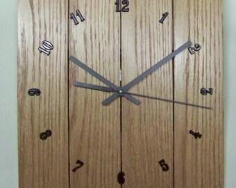 Oak Face Wall Clock, 10 x 12 Inch