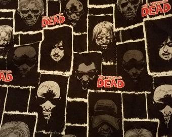 """17.5""""x25"""" Walking Dead fabric"""
