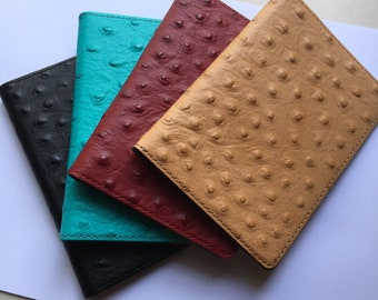 Elgo - Recoverable Passport Covers - Ostrich Leather