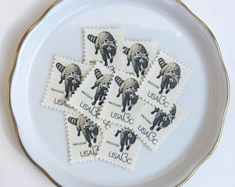10 Unused Vintage Postage Stamps US // CAPEX, Raccoon // 1978 // 13 cents