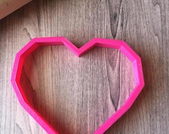 Geo Heart / Valentine's Day Cookie Cutter