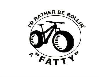 Mountain Bike Fat Bike Decal for car,lap top