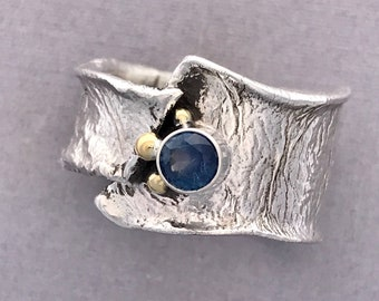 Deep purple /blue Rock Creek Montana sapphire ring