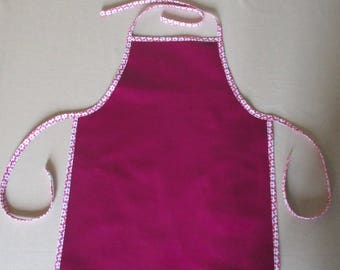 coated canvas/cotton girl apron