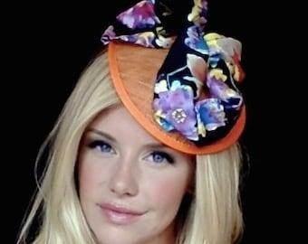 Colorful Bloom - Kentucky Derby, Fascinator, Hat, Wedding, Easter, Church, Fashion Hat