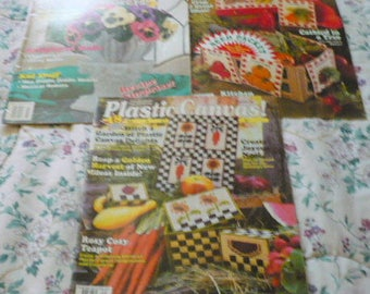 New -,Plastic Canvas Magazines - No. 25,44 & 46 - Price Is For All - EUC