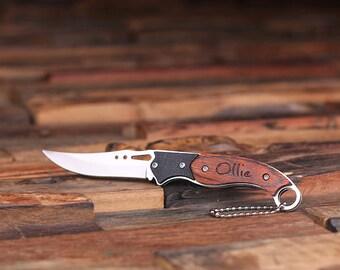 Set of 8 Personalized Engraved Monogrammed Pocket Knife Groomsmen, Best Man or Usher Gifts (024243)