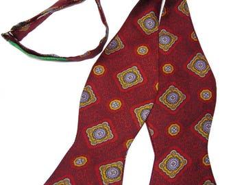 Deep Red English Heritage Silk Bow Tie