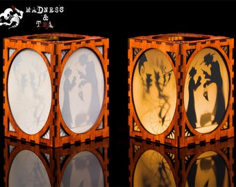 Wooden Silhouette Lantern | Wooden Lamp | Wooden Nightlight | Handmade Lantern | Wooden Lantern | Handmade Wooden Gift | Wooden Home Decor
