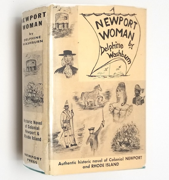 Newport Woman by Delphine Washburn SIGNED 1st Ed Hardcover HC w/ Dust Jacket 1967 New England, Rhode Island RI Fiction