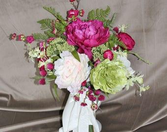 Pomegranate Bridal Bouquet Trending 2018 color