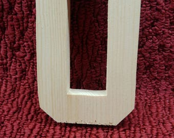"Hand cut wood # 0   5"" tall, 3/4"" thick"