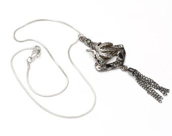 Necklace, snake necklace with pendant