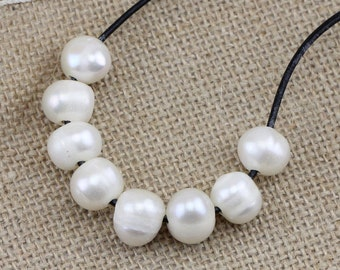 2mm,2.2mm,2.5mm,3.0mm,1.8mm, large hole pearls bead,white 11-12mm freshwater potato pearls,big hole pearls,leather jewelry material,5pcs