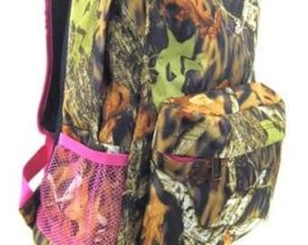 Personalized  Girls Camo Backpack  BOOKBAG  PINK CAMO