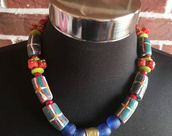Tribal Grove Necklace/ African Medallion Necklace