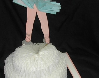1961 Vintage Honeycomb Ballerina Happy Birthday Centerpiece Original Package