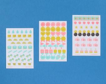Planner Sticker Pack (Set of 3)