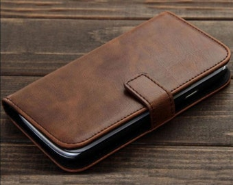 Samsung Galaxy s3 sIII I9300 Brown Deluxe Leather Wallet Card ID Case CASE COVER / holder/gift