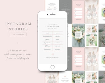 SALE! Instagram Stories Templates & Icons for IG Highlights - Social Media Marketing Templates for Photoshop - Bittersweet Designs