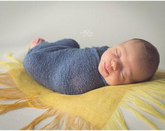 Newborn photo prop mini blanket / linen layer blanket / newborn posing blanket / basket filler / basket stuffer / baby photo prop blanket
