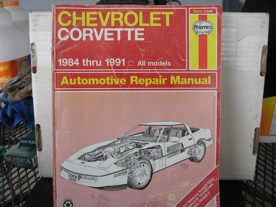 chevrolet corvette 1984 1991 automotive repair manual by rh etsy com 1992 Corvette 1997 Corvette