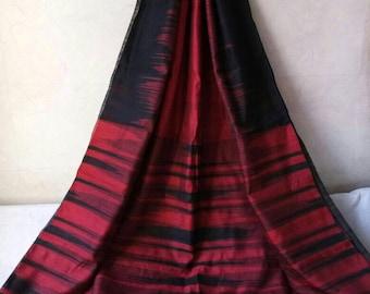 A23-Handloom Ikkat Silk cotton