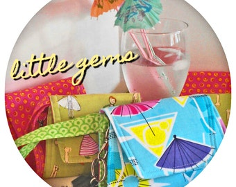 PDF Instant Download Sewing Pattern  Little Gems & Little Gems' Little Sister Wristlet Pattern