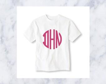 Kid's Circle Monogram T Shirt