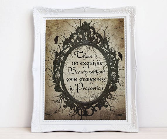Poe quote print Edgar Allan Poe Gothic Victorian