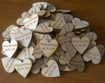 Wedding Favor Heart Magnets - Qty 50