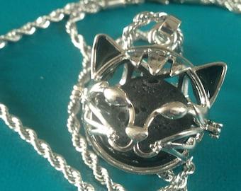 aromatherapy lava stone necklace