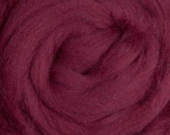 Merino Wool Roving Ruby Red 4 ounces